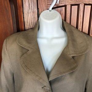 Brown Linen Jacket, Sz14.                 10-43JOE